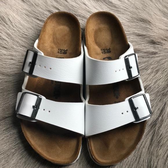 3dc708562813 Birkenstock Shoes - Birkenstock Arizona White Sandals 38 Narrow